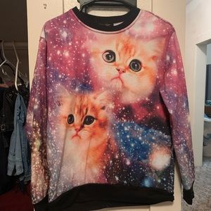 Ur an outfitters galaxy cat sweater